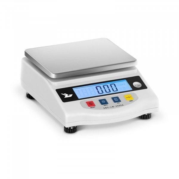 Bilancia di precisione - 2000 g / 0.01 g - LCD