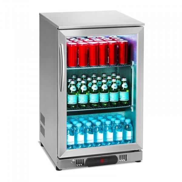 Vetrina frigo per bibite - 108 litri - Alloggiamento in acciaio inox