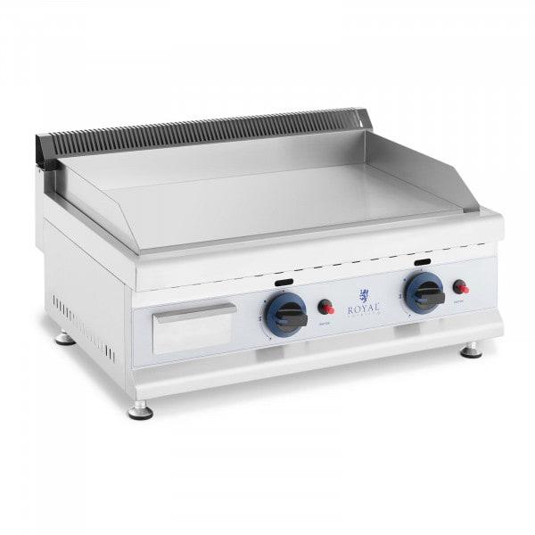 Griglia fry top a gas - Piastra in acciaio liscia - 60 x 40 cm - 2 x 3.100 W - Propano/butano - 20 mbar