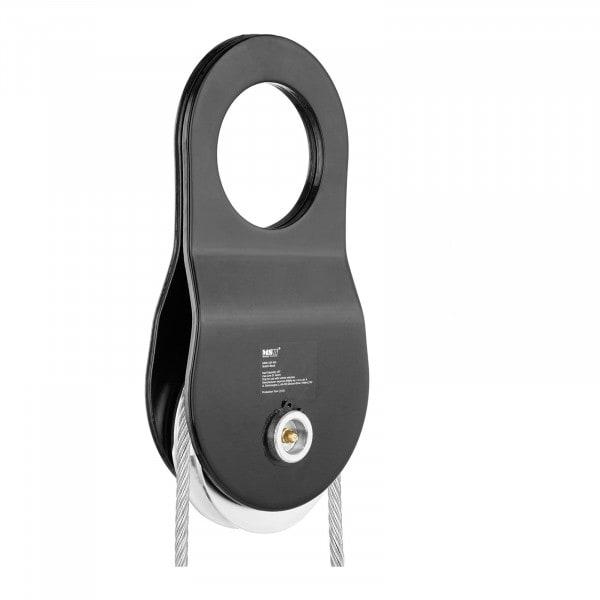 Carrucola per verricello - 10 t - Diametro della fune 1 mm - 14 mm