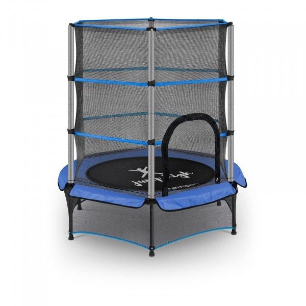 Tappeto elastico bambini - con rete di sicurezza - 140 cm - 50 kg - blu