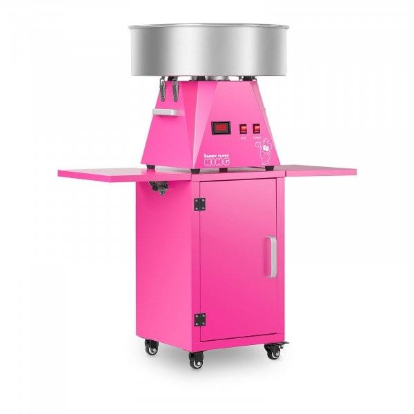 Set macchina per zucchero filato con carrello - 52 cm - rosa/rosa