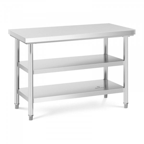 Tavolo acciaio inox - 120 x 60 cm - 600 kg - 3 livelli