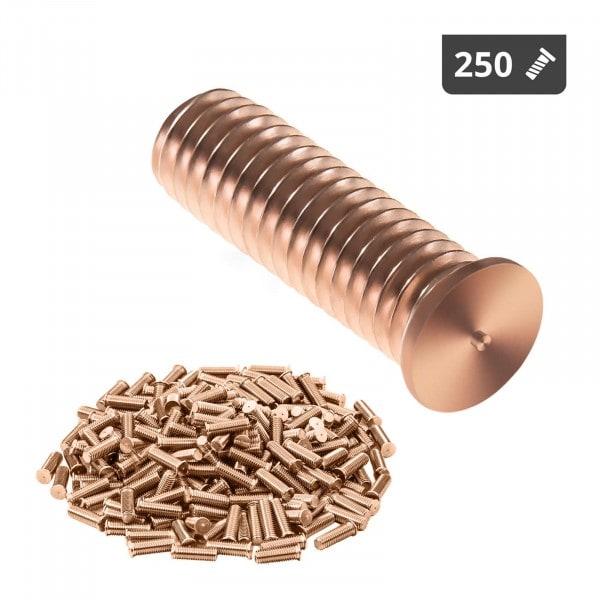 Perni a saldare - M6 - 20 mm - Acciaio - 250 pezzi