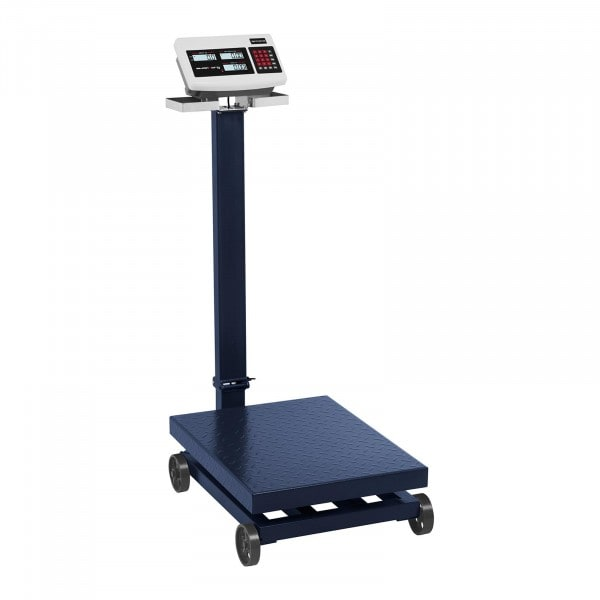 Bilancia a piattaforma a rotelle- 600 kg / 100 g - LCD
