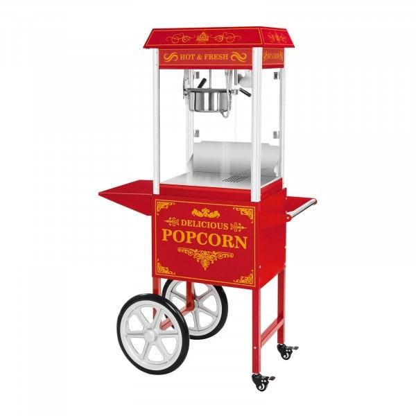 Macchina per popcorn con carretto - rosso