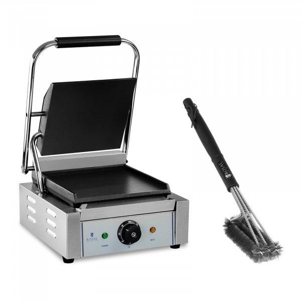 Set piastra panini e spazzola per griglia a tre teste - 1.800 W - Liscia