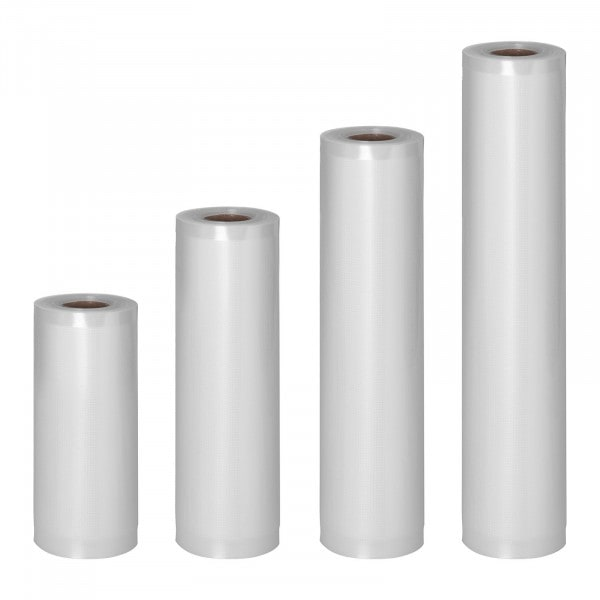 Sacchetti sottovuoto per alimenti - 4 rotoli - 24 m - 15 - 30 cm
