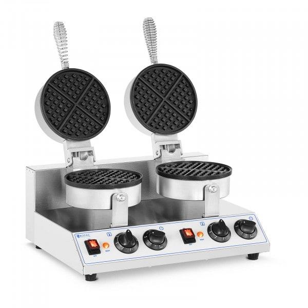Piastra per waffles doppia rotonda - 2.600 W