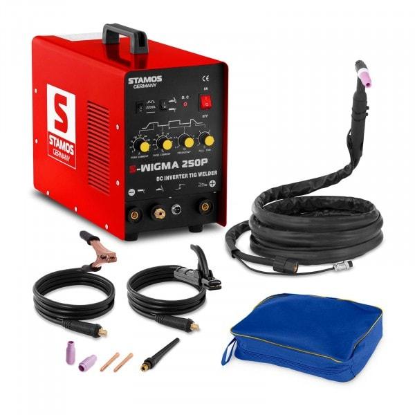 Saldatrice TIG DC - MMA - 250 A - 230 V - Frequenze a impulsi - MOSFET - Hot Start