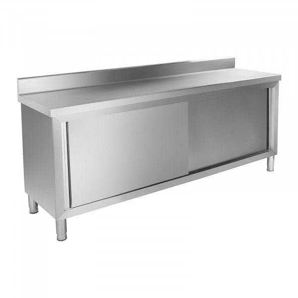 Tavolo armadiato inox - 200 x 60 cm - con protezione