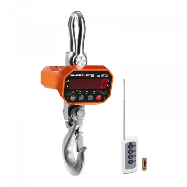 Bilancia a gancio - 5 t / 2 kg - LED