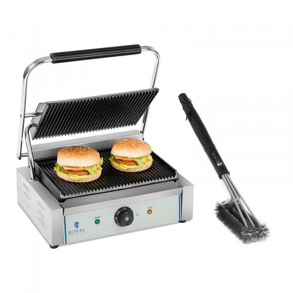 Set piastra panini e spazzola per griglia - 2.200 W - Rigata