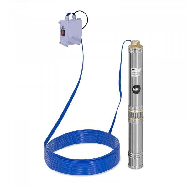 Pompa sommersa per pozzo - 6.000 L/h - 550 W - Acciaio inox