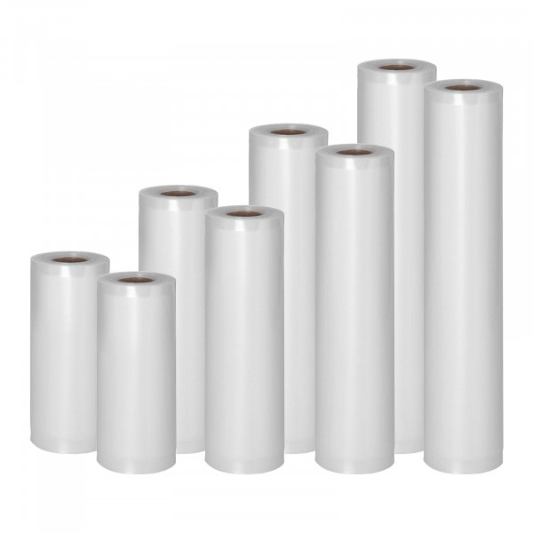Sacchetti sottovuoto per alimenti - set di 8 rotoli - 48 m - 15 - 30 cm
