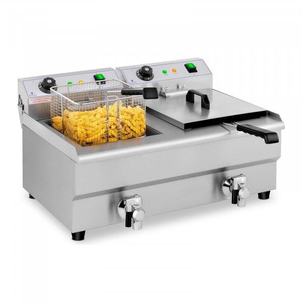 Seconda Mano Friggitrice elettrica - 2 x 13 litri - rubinetti di scarico - 230 V