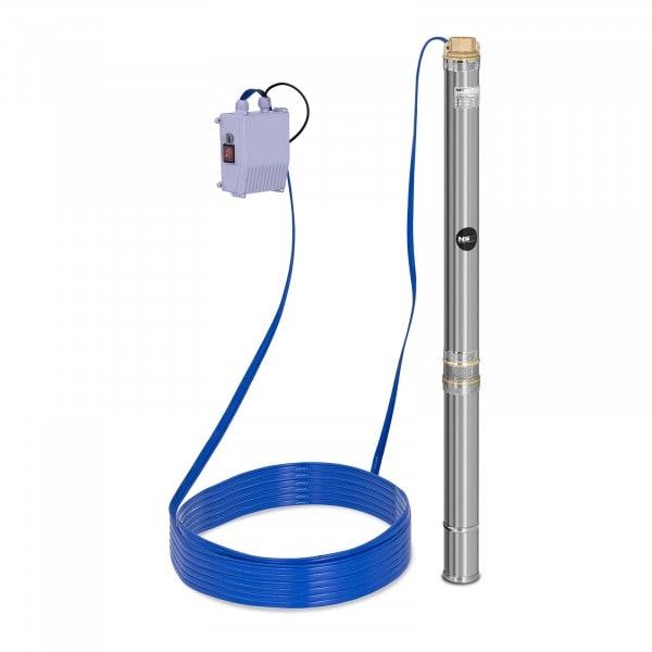Pompa sommersa per pozzo - 3.800 L/h - 550 W - Acciaio inox