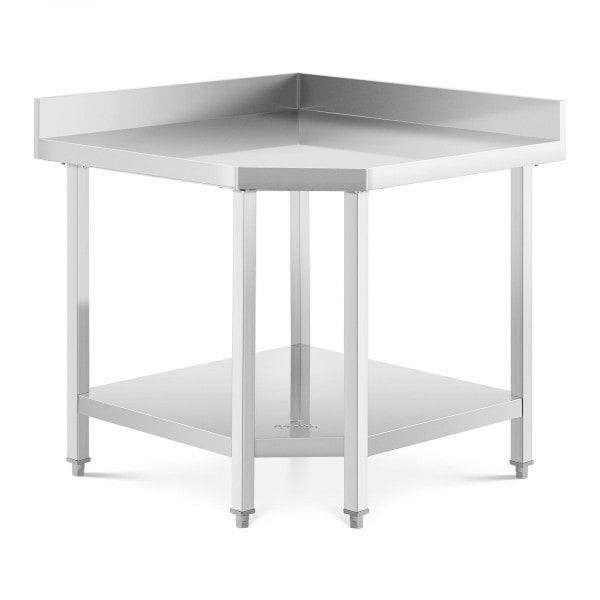 Tavolo acciaio inox angolare - 90 x 70 cm - Capacità di carico: 300 kg