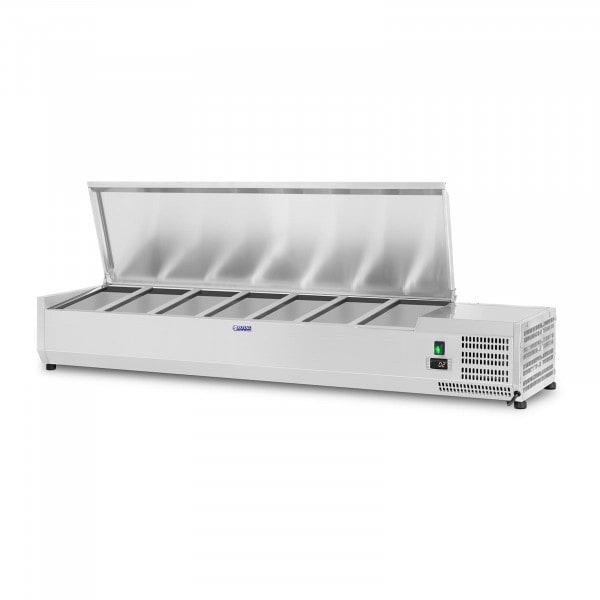 Vetrina refrigerata - 150 x 33 cm - 7 contenitori GN 1/4