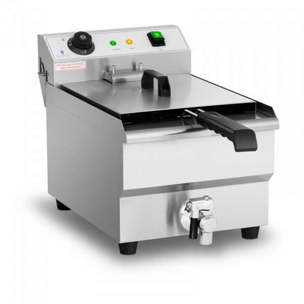 Friggitrice - 13 litri - 3.200 W - rubinetto di scarico - zona fredda