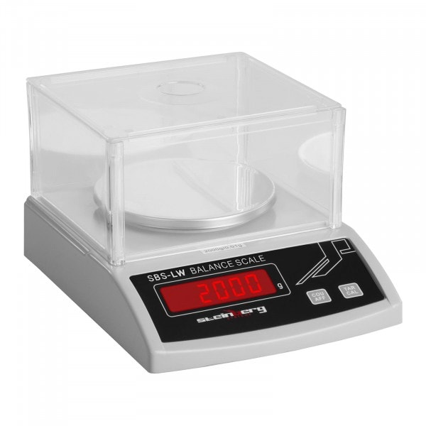 Bilancia di precisione - 2000 g / 0,01 g - bianco