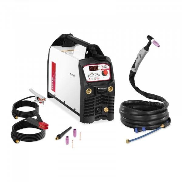 Saldatrice TIG DC - MMA - 200 A - 230 V - Digitale - Frequenze a impulsi - IGBT - Hot Start - 2/4 tempi