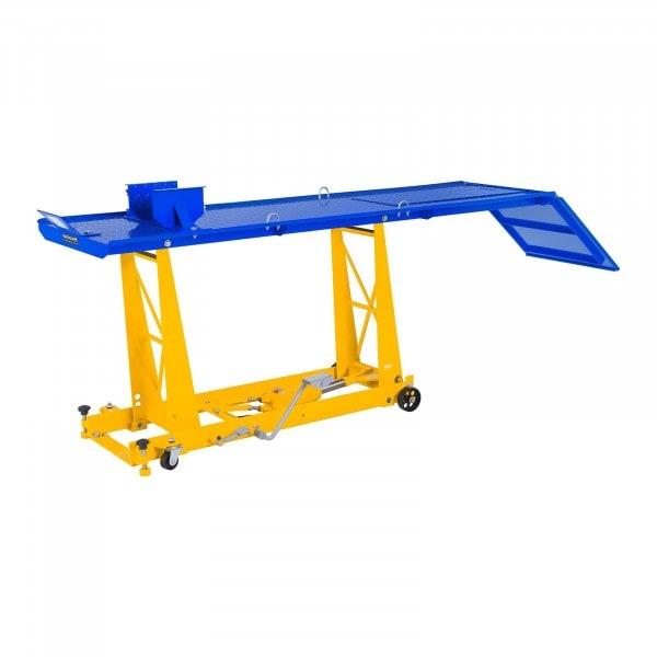 Ponte sollevatore per moto con rampa - 450 kg - 220 x 68 cm