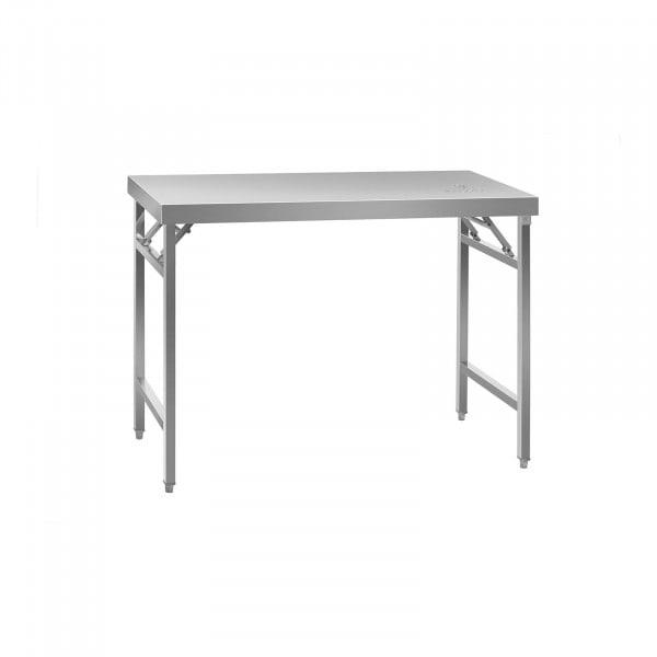Seconda Mano Tavolo inox pieghevole - 120 x 60 cm