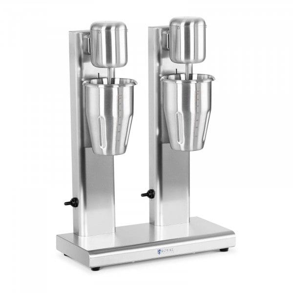 Frullatore per frappè e milk shake - Doppio - 2 x 1 L - 15.000 giri/min - Acciaio inossidabile