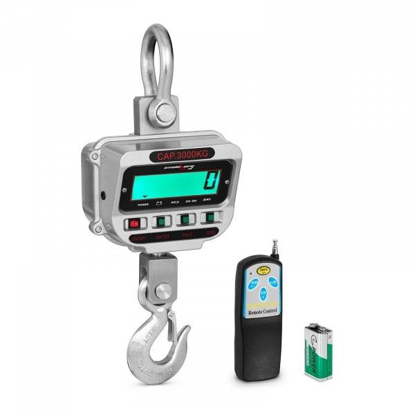 Bilancia a gancio - 3 t / 0.5 kg - LCD