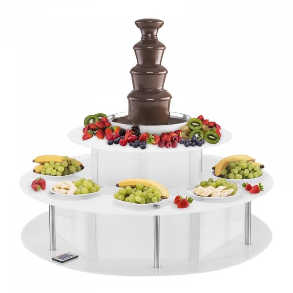 Set fontana di cioccolato professionale e base luminosa- 4 livelli - 6 kg