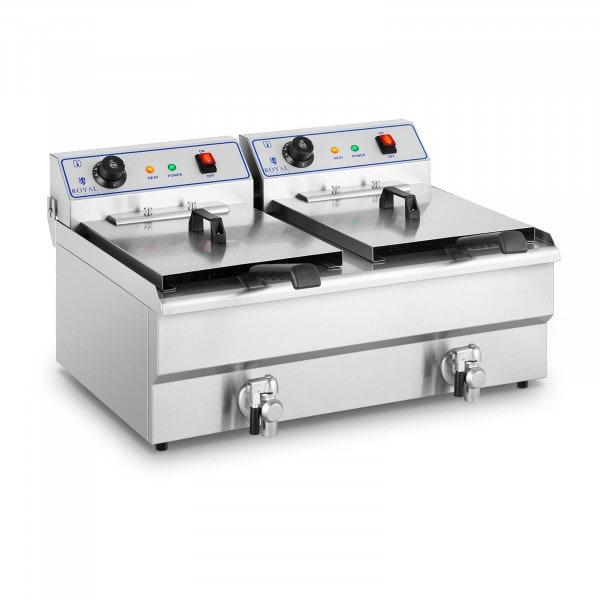 Friggitrice elettrica - 2 x 16 litri - 400 V