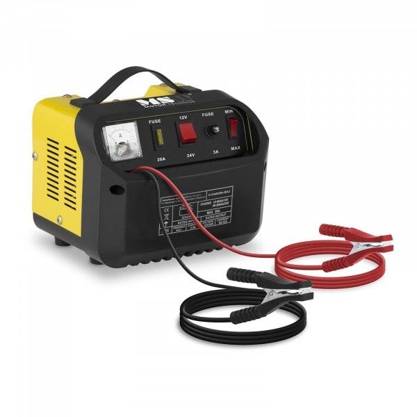 Caricabatterie per auto professionale - 12/24 V - 8/12 A - pannello di controllo inclinato