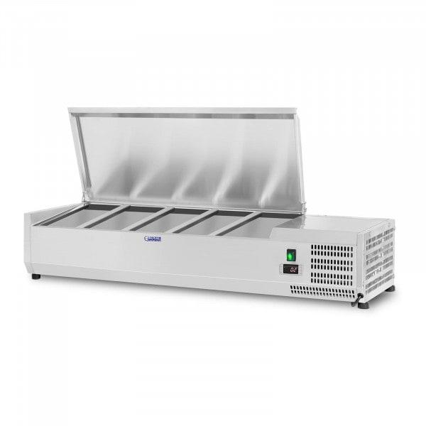 Vetrina refrigerata - 150 x 39 cm - 5 contenitori GN 1/3 e 1 contenitore GN 1/2