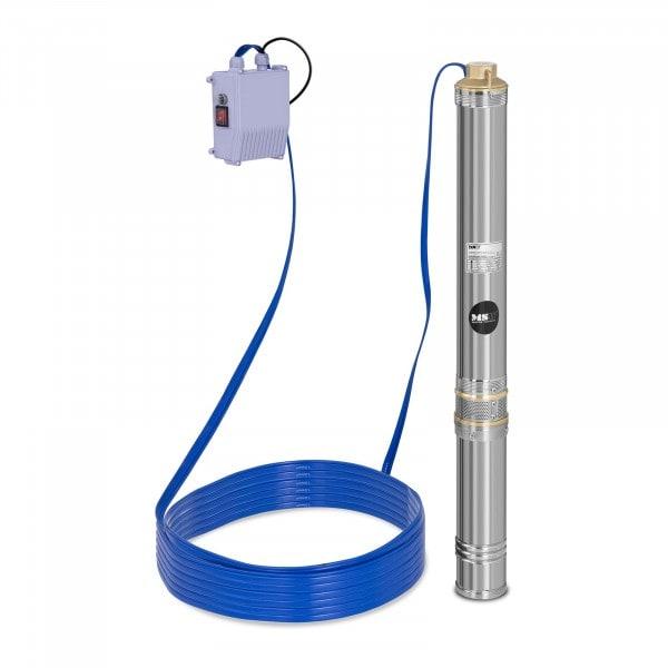 Pompa sommersa per pozzo - 4.800 L/h - 750 W - Acciaio inox