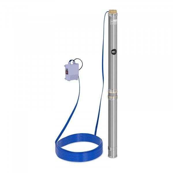 Pompa sommersa per pozzo - 10.800 L/h - 2.200 W - Acciaio inox