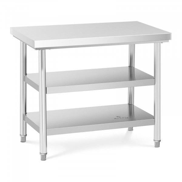 Tavolo acciaio inox - 100 x 60 cm - 600 kg - 3 livelli