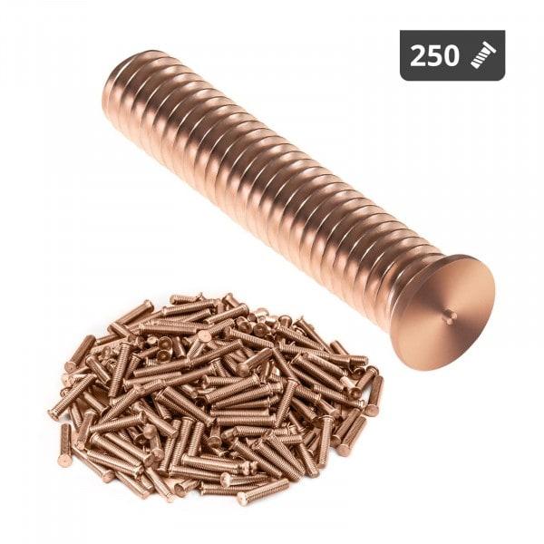 Perni a saldare - M6 - 30 mm - Acciaio - 250 pezzi