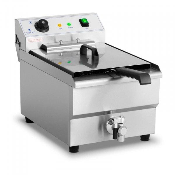 Friggitrice - 16 litri - 6.000 W - rubinetto di scarico - zona fredda