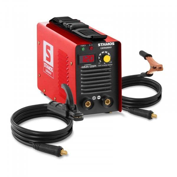 Saldatrice MMA - E-Hand - 120 A - 230 V - IGBT - Hot Start - con display LED