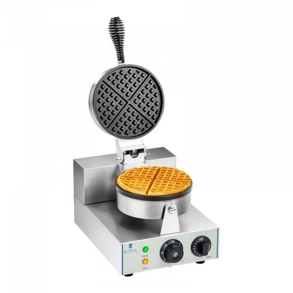 Piastra per waffel - 1 x 1.300 Watt - rotonda