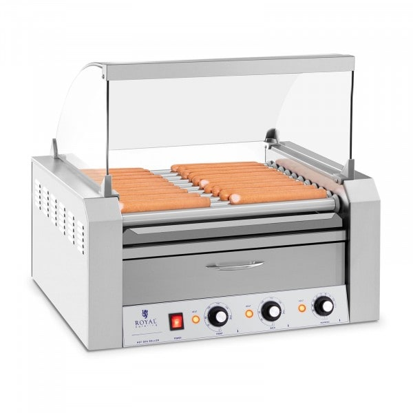 Seconda Mano Cuoci Hot dog - 11 Rulli - Cassetto scaldavivande - Acciaio inox