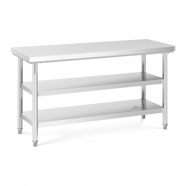 Tavolo acciaio inox - 150 x 60 cm - 600 kg - 3 livelli