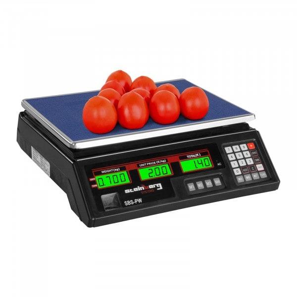 Bilancia da banco di controllo - 35 kg / 2 g - nera - LCD
