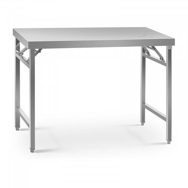 Tavolo acciaio pieghevole - 70 x 120 cm - 215 kg di carico