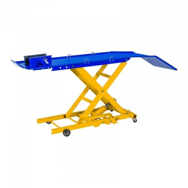 Ponte sollevatore per moto con rampa - 360 Kg - 175 x 50 cm