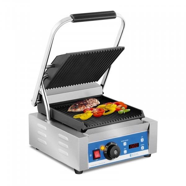 Piastra per panini - rigata - timer - 1.800 W