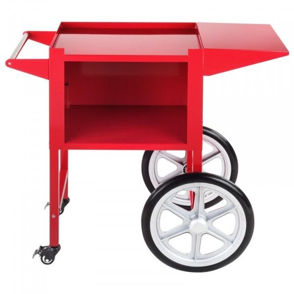 Gesamtansicht vorne von Popcornwagen - rot - 51 x 37 cm