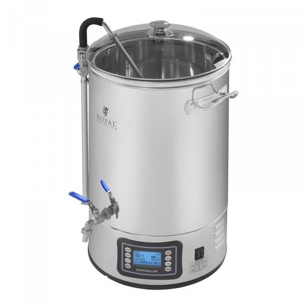 Fermentatore per birra in acciaio inox - 30 litri - 2.500 Watt