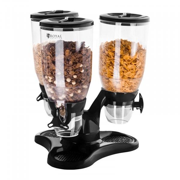 B-WARE Dispenser per cereali triplo - 9 Litri